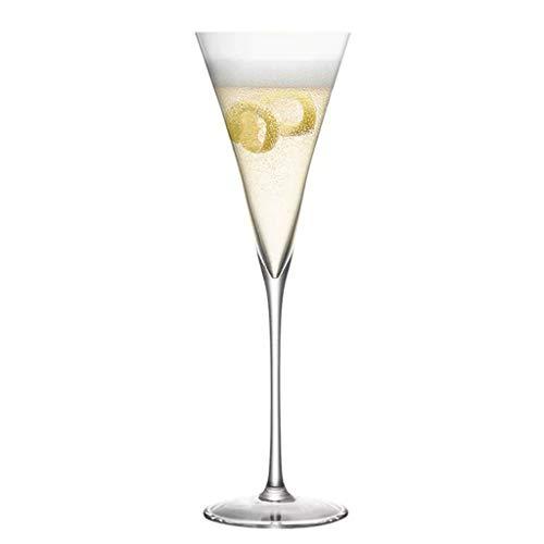 Verres à vin Cristal Triangle Verre À Cocktail Verre À Champagne Gobelet Mousseux Cadeau À Vin (Color : Clear, Size : 6.8 * 7 * 24.5cm)