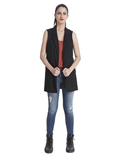 ONLY - Manteau sans manche - Uni - Sans Manche - Femme Noir - Noir