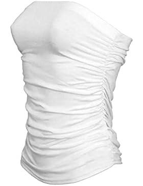 janisramone donne boobtube a fascia senza spalline gilet reggiseno ragazze top corto abito