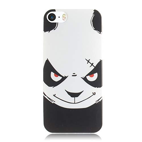 Carols Coque iPhone 5 5S 5G / iPhone Se, iPhone 5 5S 5G / iPhone Se Étui TPU Silicone Souple Coque - Ours en colère