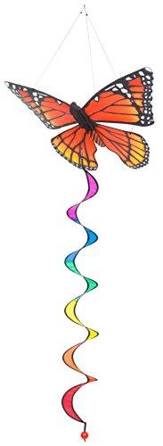 HQ Windspiration 109343 - Butterfly Twist 3D Monarch, UV-beständiges und wetterfestes Windspiel - Länge: 125 cm, Breite: 35 cm, Tiefe: 25 cm, inkl. Aufhängung -