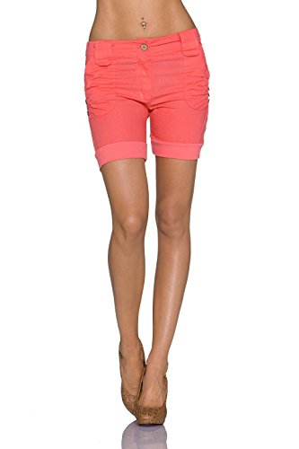 Moda Italy - Short - Capri - Uni - Femme Lachs