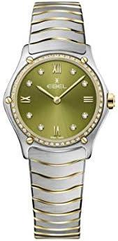 ساعة يد كلاسيكية رياضية من الستانلس ستيل بحركة كوارتز سويسرية وذهب عيار 18 قيراط للنساء من ايبيل 1216447A