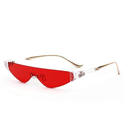 WJFDSGYG Gothic Sonnenbrillen Herren Brand Designed Damen Sonnenbrillen Narrow Fashion Flat Top Semi-Randlose Brillen