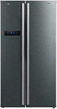 Panasonic 700 Liters Side By Side Refrigerator, Dark Grey - NR-BS700MS, 10 Year Compressor Warranty