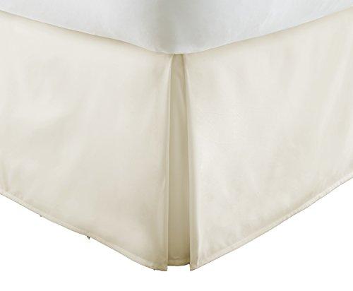 ienjoy Home Premium Bundfaltenhose Staub Rüsche Bett Rock, cremefarben, King Size (Bug Protector King-size-bett)