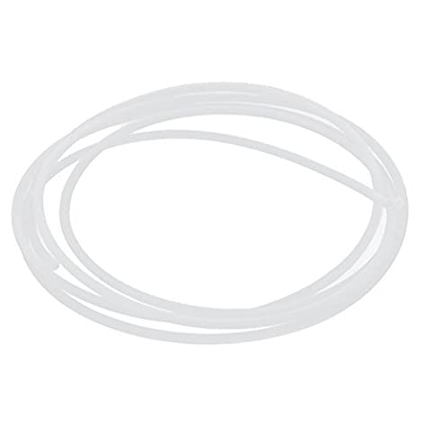 sourcingmap® 2M Länge 3mm ID 4mm OD PTFE Rohrleitung Schlauch Rohr für 3D Drucker RepRap