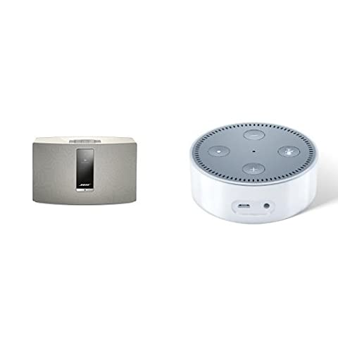 Bose SoundTouch 20 Series III kabelloses Music System weiß + Amazon Echo Dot (2. Generation), Weiß