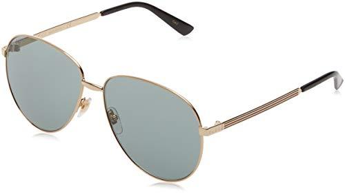 Imagen de gucci gg0138s 001 gafas de sol, dorado gold/green , 61 unisex adulto