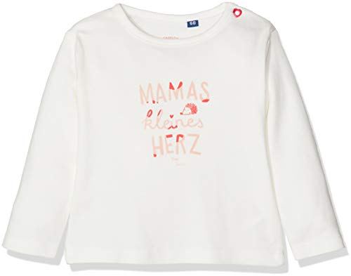 -Mädchen T-Shirts 1/1 Langarmshirt, Weiß (Cloud Dancer|White 1610), 74 ()