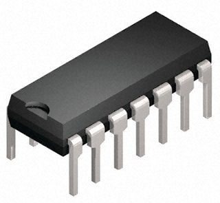 74HC32, Quad 2-Input OR, DIP-14 (CMOS High speed Version, pin-kompatibel zu TTL 7432) -