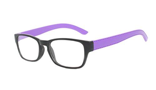 Rainbow safety Herren Damen Vollformat Lesebrille Florida Lesehilfe MC2099 +3.50D violett