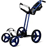Sun Mountain Pathfinder 4 Wheel Push Cart Golf Trolley Big Sky Blue