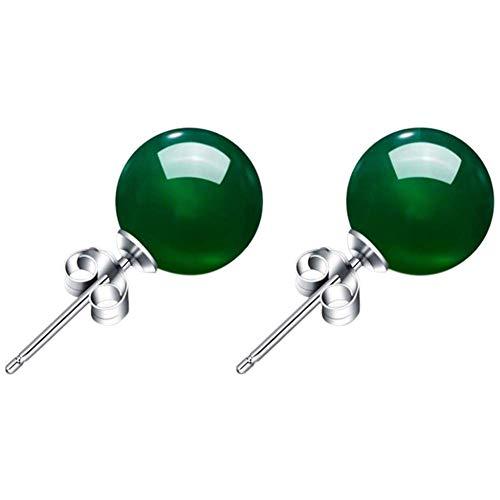 Verde naturale calcedonio orecchini donna argento onice gioielli gemma di cristallo gioielli orecchini a clip per donna, charm x 1paio, con una borsa di gioielli