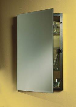 Jensen 1448 Galena Frameless Medicine Cabinet with Beveled Mirror, 16-Inch by 26-Inch by Jensen