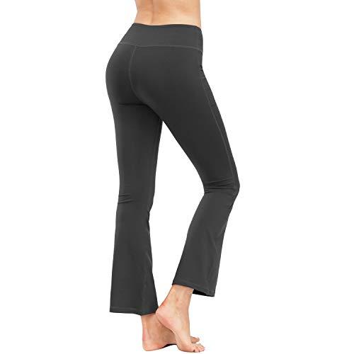 HMIYA Bootcut Yogahose, Flare Hose Fitness Joga Sporthose Damen