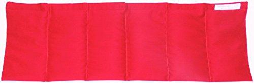 Kirschkernkissen Wärmekissen Kirschkerne Bio-Qualität ohne chemische Reinigung schonend getrocknet ca. 60x20 Farbwahl (rot)