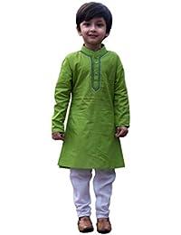 My NewBorn Baby Boy's Cotton Kurta Pyjama Set