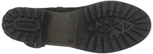 Remonte R3354 Damen Biker Boots Schwarz (schwarz/antik/bronze/altsilber / 02)