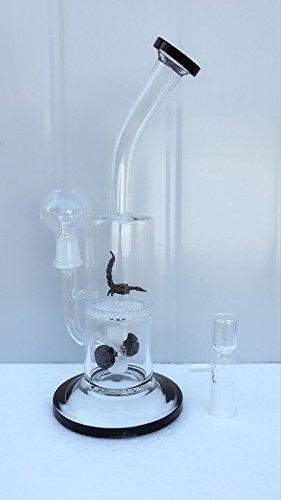 Verre Narguilé avec scorpion Noir et nid d'abeille PERC Tabac en eau en verre Pipe gratuit dôme en verre et ongles
