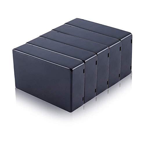 Yosoo 5pcs 100x 60x 25mm Negro Cubierta de plástico proyecto electrónico caja instrumento caso DIY energía Junction Box