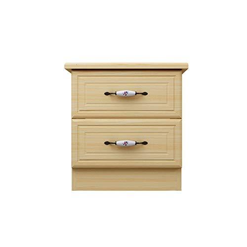 2 Schublade Nachttisch Holz-finish (XCJ Nachttisch, Nachttisch Weiß, Nachttisch Mit 2 Schubladen - Nachttisch Aus Holz Nachttisch Konsolentisch Kommode Schlafzimmer Nachttisch (Color : Wood Color))