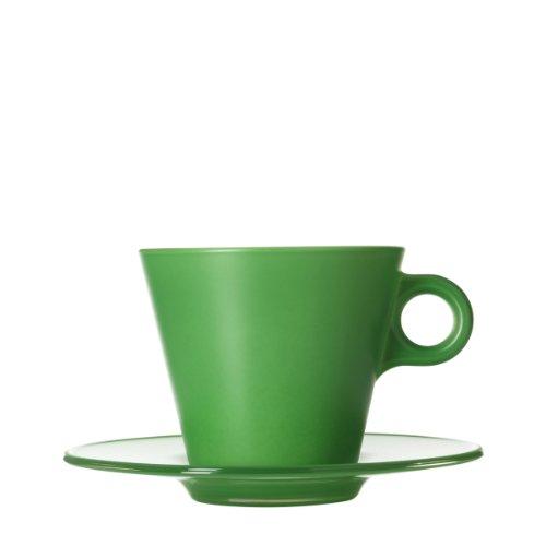 Leonardo 012274 GK Set Tasse, Cappuccino Ooh magico, grün