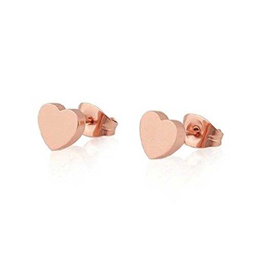 findout 14K chapado en oro rosa de acero de titanio