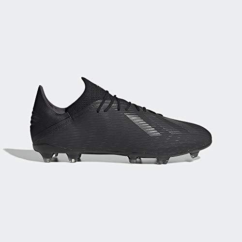 adidas Herren X 19.2 Fg Fußballschuhe, Schwarz (Core Black/Utility Black/Silver Met. Core Black/Utility Black/Silver Met.), 44 2/3 EU