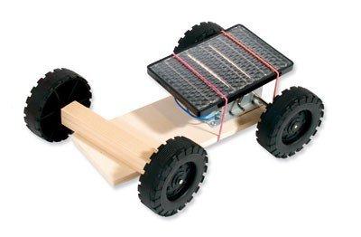 matches21 Solar Fahrzeug Auto Solarauto Holz Bausatz f. Kinder Werkset Bastelset Lernspiel ab 9 Jahren