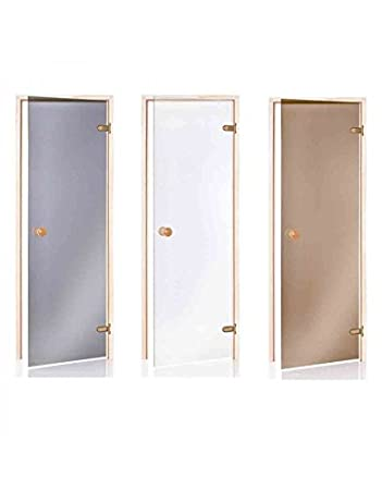 Saunatür Glas standart saunatüren 80 x 200 glasfarbe bronze frame material