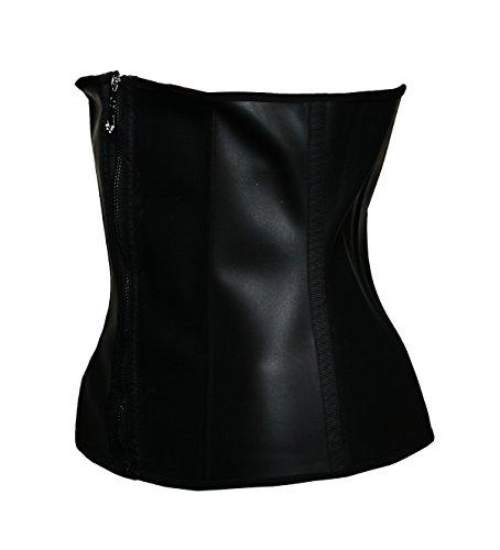 BSLINGERIE® Damen Abnehmen Latex-Gummi Stahl ohne Knochen Taillenmieder Corsage Schwarz