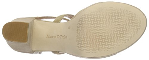 Marc O'Polo - High Heel Sandal, Sandali con platea Donna Beige (Beige (beige 130))