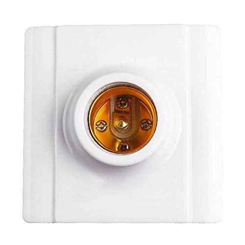 ZChun E27 Kunststoff Weiß Basis Schraube Glühbirne Lampe Keramik Sockel Halter, Flammschutzmittel Langlebiges Material Sicher Nicht elektrische Leckage -