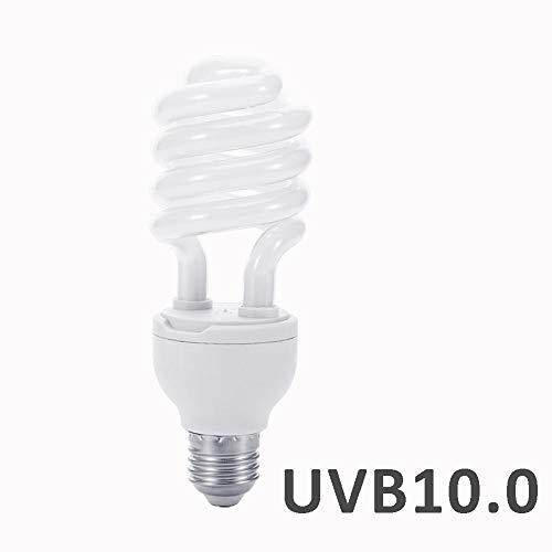 Spirale Kompakt-Glühbirne für Reptilien, 26 W, energiesparend, UVB-Lampe für Wüstentyp, Schlange, Eidechse, Insekten, Leopardenmuster -