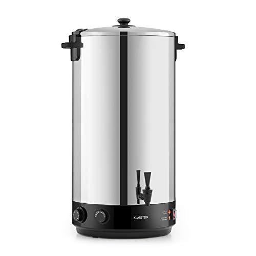 Klarstein KonfiStar 60 - Stérilisateur automatique, Distributeur boissons chaudes, 60 L, 30-110 ° C, Conservation à chaud, acier inoxydable