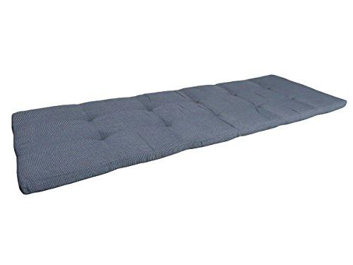Balke Luxus 2-Sitzer Bankauflage 'Rips Anthrazit 115', ca. 115x50 cm, uni grau strukturiert