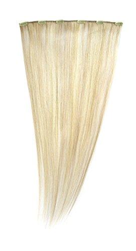 American Dream - A1/QFC12/24/24/25 - 100 % Cheveux Naturels - Barrette Unique Extensions à Clipper - Couleur 24/25 - Blond Soleil / Blond Léger - 61 cm