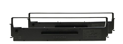 Epson C13S015614 LX300 Farbband-2 twin pack, schwarz/nylon - Pack Ribbon Cartridge