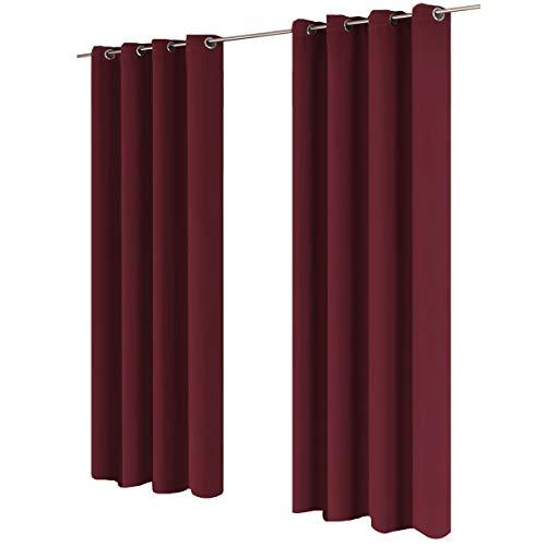 Gräfenstayn® tenda oscurante midnight 100% opaco con occhielli 140x245cm - molti colori - tenda oscuramento tenda opaca scialle per finestre decorativa tenda termica (bacca)