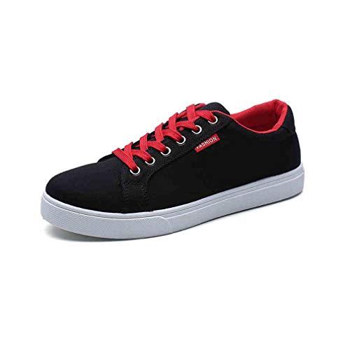ECSD Unisex-Skate-Schuh-Segeltuch-Sport-beiläufige Niedrige Spitze-Oben Skateboard-Schuhe (Farbe : 01, größe : EU42/UK8.5/CN43) - Niedrig Skateboard-schuhe