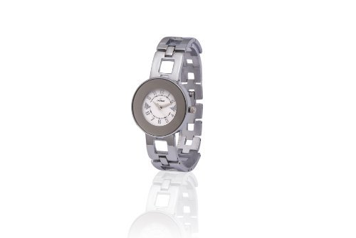 Dezine Silver Butterfly Round Dial Watch For Women