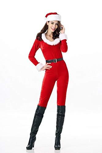 Santa Claus Bekleidungs Kugel Anzug Frauen Sexy Weihnachts-Jumpsuit Weihnachten Cos Show Clothing Nachtclub Bar DS Stage Kostüme Einzel-Code Rot-Weiß