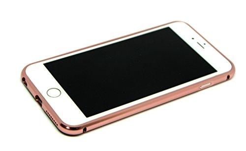 Mirror Bumper iPhone Case Specchio Soft Case Custodia protettiva cover iPhone 6/6S Plus specchio copertura, Ultra Slim Mirror Case Cover Skin, sottile custodia back cover a specchio, caso di telefono  Rose Gold