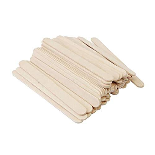 HEALIFTY 100 STÜCKE Natural Plain Wood Tongue Depressor Sticks für DIY Handwerk Kreative Designs
