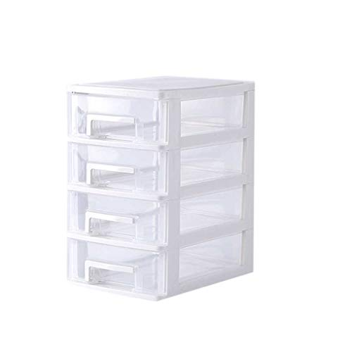 OmkuwlQ Transparente Tischschublade Home Office Papier-Akten Gadgets Make-up-Tools Aufbewahrungsbox Mehrschichtige Schreibtisch-Organizer 15.2 * 21.1 * 25.2cm #10 -