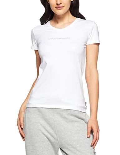 3df2cf8adf42 Emporio Armani Underwear Damen V-Neck T-Shirt 163321CC317, Weiß (Bianco  00010