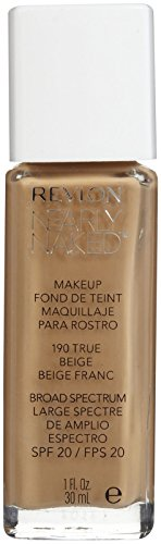 Revlon Nearly Naked Liquid Makeup Broad Spectrum SPF 20, #190 True Beige, 1 Fluid Ounce by Revlon