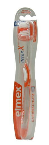 ELMEX interX medium Kurzkopf Zahnbuerste, 1 St
