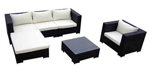Baidani 10c00014.00001 Sitzgruppe Daydreamer, Rattan, 4-teilig, schwarz kaufen  Bild 1*